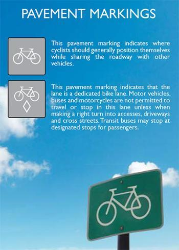Pavement Markings for riders-graphic