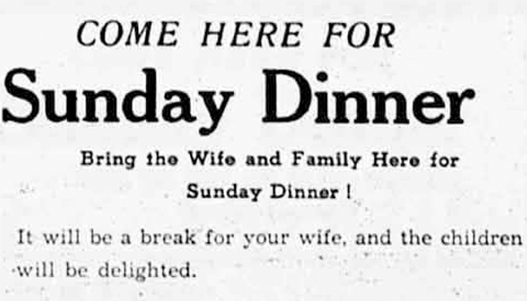 Advertisement for Club Café, Red Deer Advocate Aug. 8, 1945