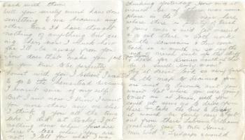 Red Deer Archives, K3448; Letter to Fred Crook from Hilda, 1939
