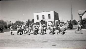 Red Deer Archives, N311; Canadian Women's Army Corps in Training Centre parade, 1942
