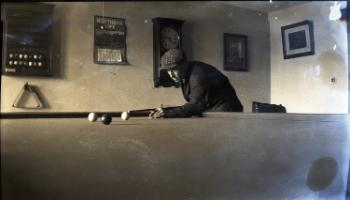 Red Deer Archives, N399; Playing snooker, 1919