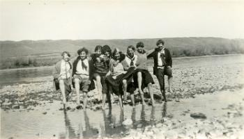 Red Deer Archives, P429; Children at the river, 192?