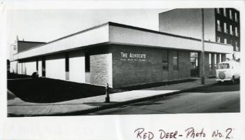 Red Deer Archives, P5182; Red Deer Advocate building, 1972