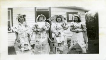 Red Deer Archives, P4706; Members of the Balmoral Women's Institute at a wedding shower, 1945