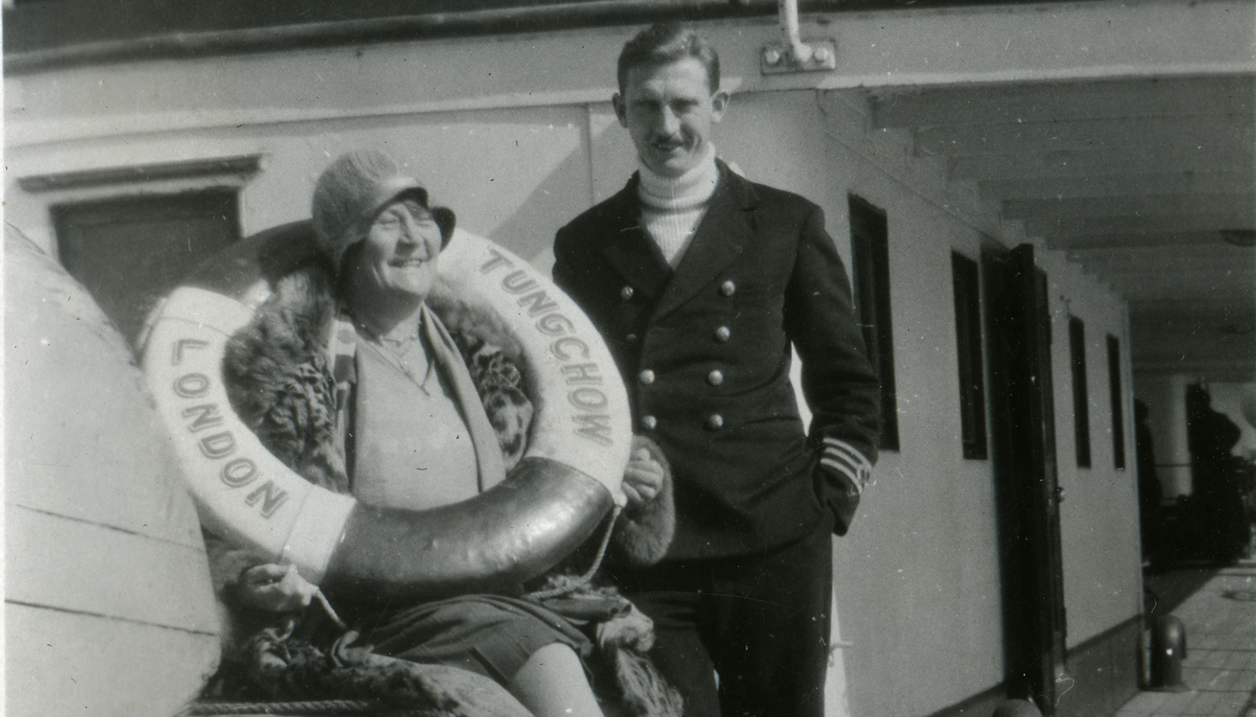Florence Cottingham on the London Tuncshow ship, 1931
