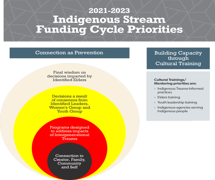 Funding cycle priorities for Indigenous Stream