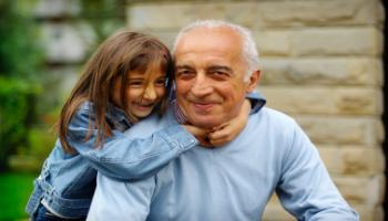 Girl with Grandpa