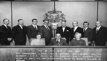 Red Deer City Council in 1968-1969