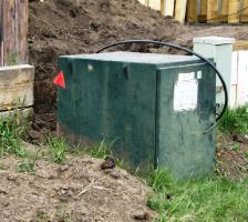 Transformer access hindered by fill dirt