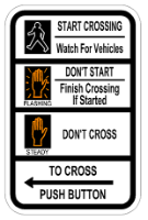 image of a Pedestrian Signal Crossing Sign