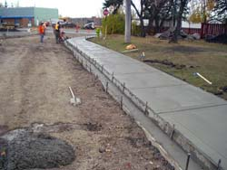 Sidewalk construction