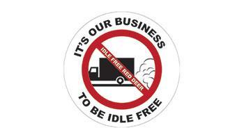 Idle Free Window Decal image