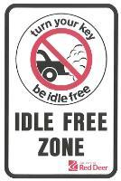 Shows a City of Red Deer Idle Free Zone sign