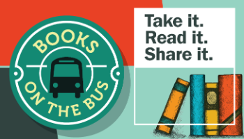 Books on the Bus transit campaign image