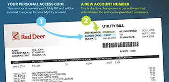 Image of new utility bill