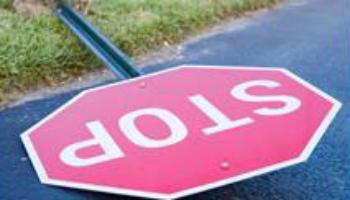 Report a Problem - broken stop sign