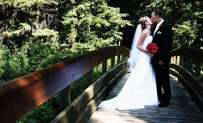 Wedding bookings-couple on bridge