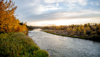 photo of the Red Deer River