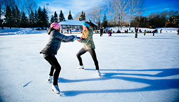 photo of 2 figure skaters at Bower Ponds