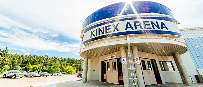 The exterior of the Kinex Arena in the Summer of 2015.