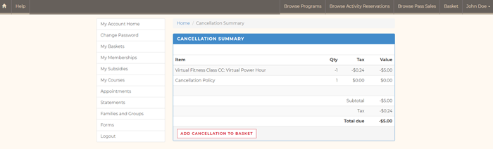 Look n Book Cancel Reservation - Step 2 Screenshot